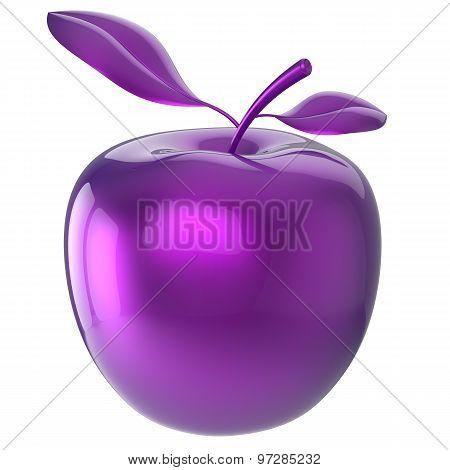 Apple Blue Purple Food Research Experiment Nutrition Fruit Icon