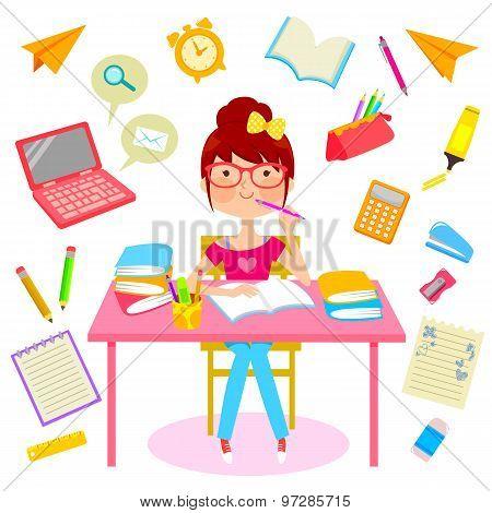 happy studying