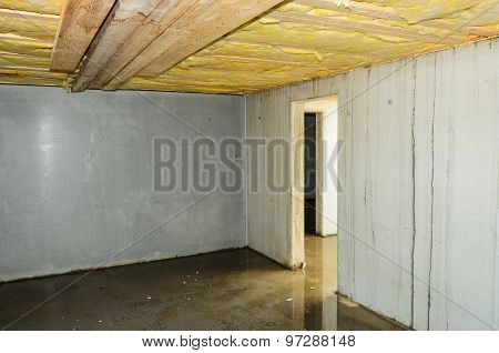Wet Faulty Builded Cellar
