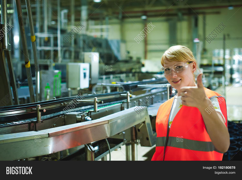 Female Worker On Beer Image & Photo (Free Trial) | Bigstock
