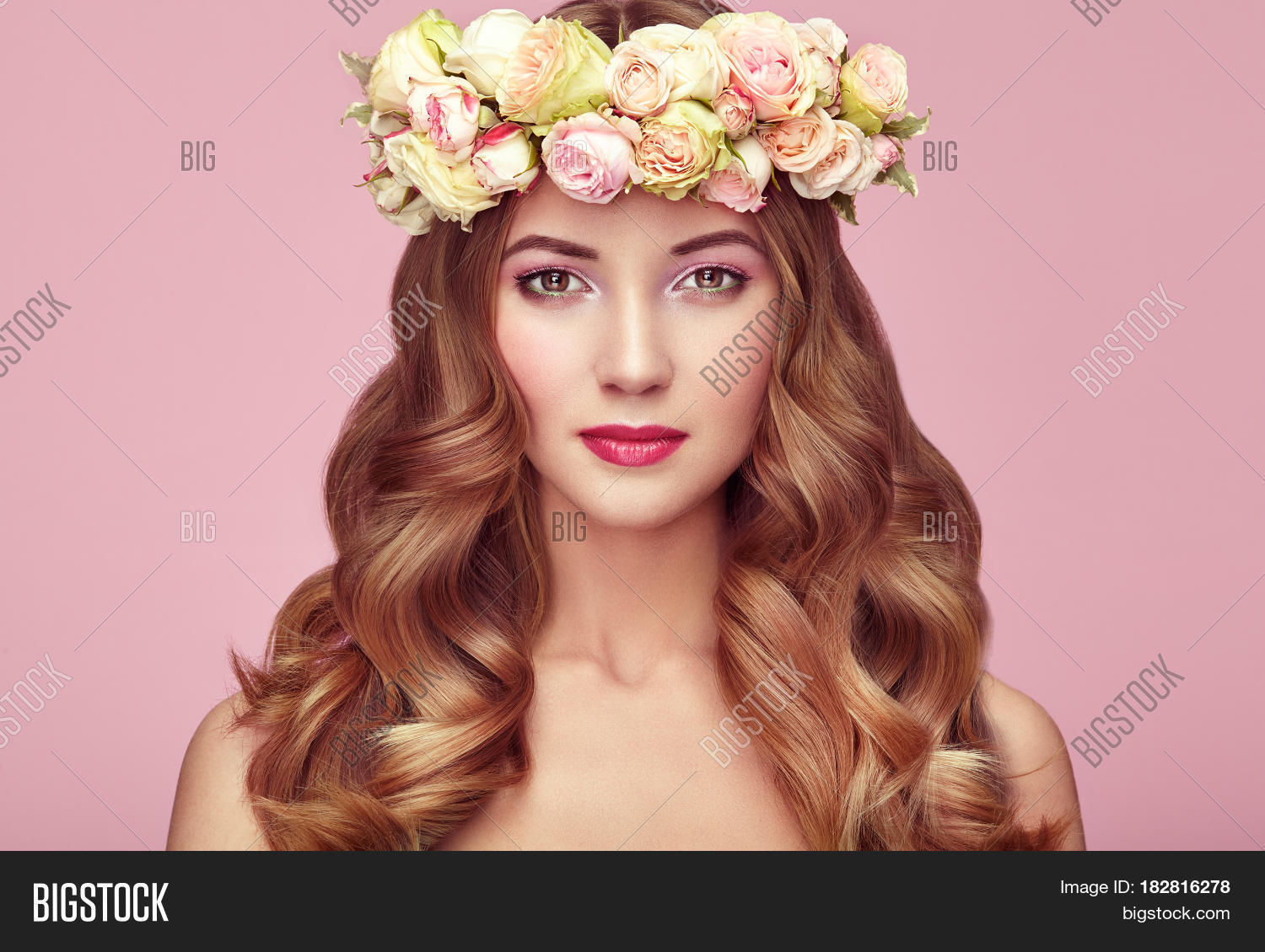 Beautiful blonde woman image photo free trial bigstock beautiful blonde woman with flower wreath on her head beauty girl with flowers hairstyle izmirmasajfo
