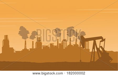 Background bad environement pollution industry illustration vector