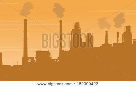 Pollution industry bad environment collection vector illustration