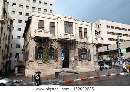 TEL AVIV ISRAEL - APRIL 12 2016: House of the jeweler Akiva Aryeh Weiss one of the founders of Tel Aviv