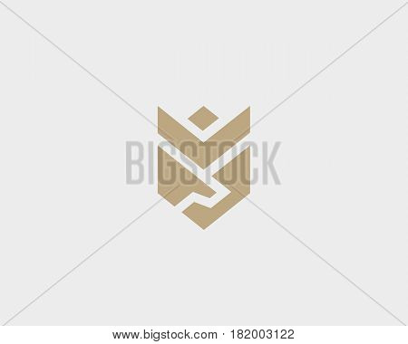 Handshake, wings, crown, flower vector logo. Deal, partnership shield logotype Luxury team icon symbol