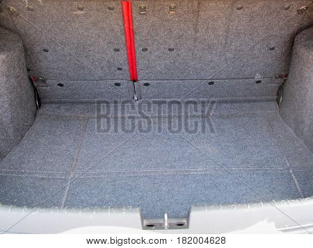 The big trunk of a suv car