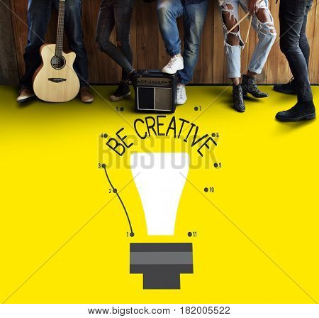 Be Creative Inspiration Imagination Concept