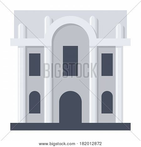 Science research institute, vector illustration in flat style