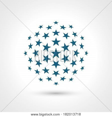 Abstract circular shape. Stars elements. Contains transparent objects.