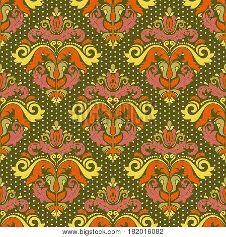 Seamless classic colorful pattern. Traditional orient ornament