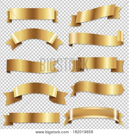Big Golden Ribbons Set