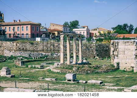 Roman Agora Of Athens, Greece