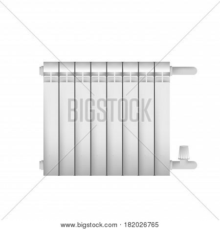Metal cast radiator for indoor steam heating