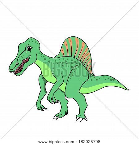 Vector Spinosaurus dinosaur on a white background