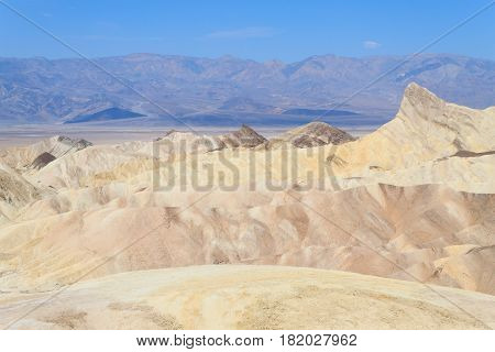 View From Zabriskie Point, California, Usa.