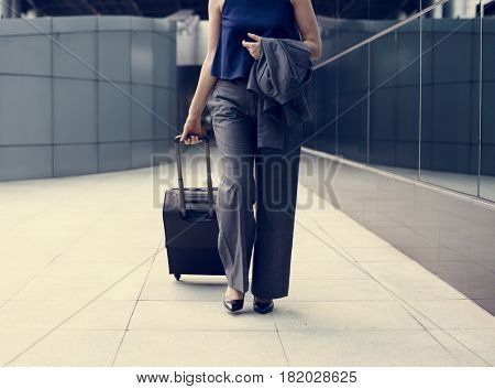 Businesswoman Traveler Journey Business Travel