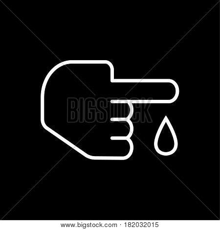 Blood test icon vector illustration isolated on black background. Eps 10