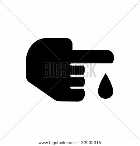 Blood test icon vector illustration isolated on white background. Eps 10