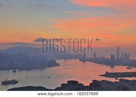 Black Hill View Of Hong Kong