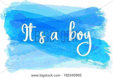Baby Gender Reveal Illustration.