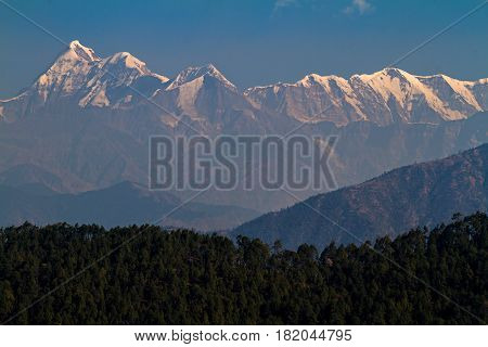 Trishul Peak in India. Elevation 7,120 Meter