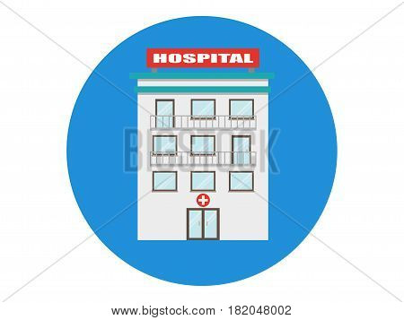 hospital building vector medicial clinic icon isolated
