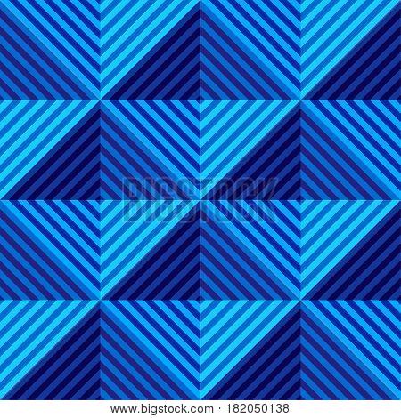 Abstract vector seamless op art pattern. Geometric rhombus ornament.