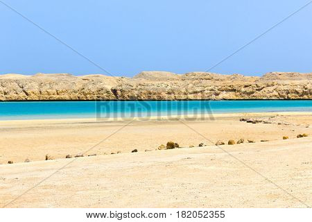 Magic lake from red sea in the national park Ras Mohammed, Sinai, Egypt poster