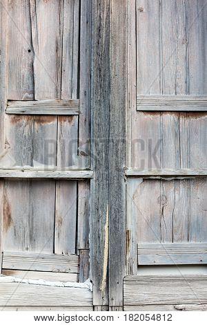 Wooden Broken Window