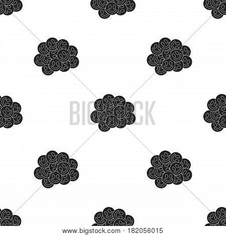 Ecstasy icon in black style isolated on white background. Drugs pattern vector illustration.