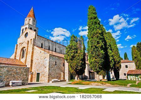 Famous Basilica di Santa Maria Assunta in Aquileia Friuli-Venezia Giulia Italy poster