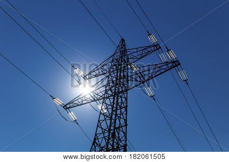 pylon against the light