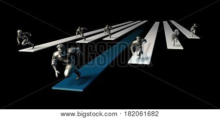 Dynamic Business Team and Sales Organization as Concept 3D Illustration Render