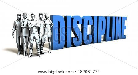 Discipline Business Concept as a Presentation Background 3D Illustration Render