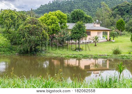 Small Farm House With Lake
