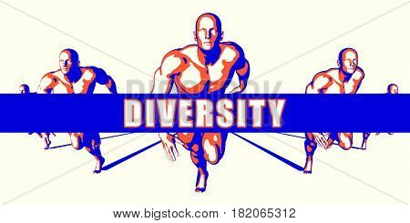 Diversity as a Competition Concept Illustration Art 3D Illustration Render