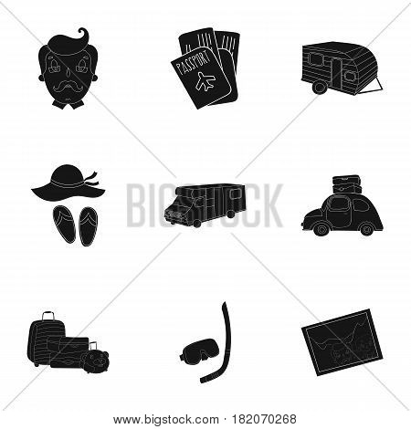 Family, family traditions, recreation. Family life.Family holiday icon in set collection on black style vector symbol stock web illustration.