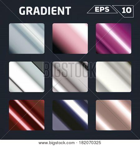 color gradient set backgound Vector illustration design