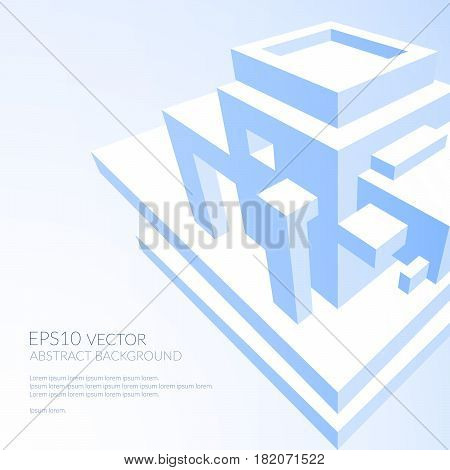 Abstract Background With Three Dimensional Geometric Structure.