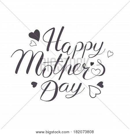 Happy Mother's Day hand written lettring. Vector illustration in eps 8 format
