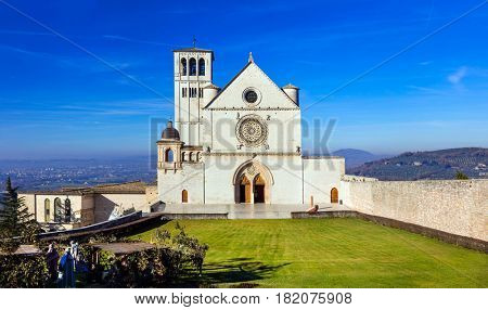 Landmarks of Itay - Church of st. Francis in Assisi town