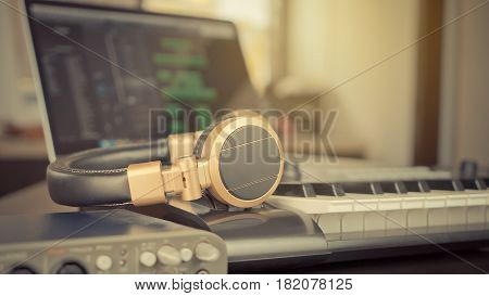 Bedroom Music Studio Computer Music Equipment producing