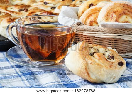 Patties With Cottage Cheese And Raisins. Russian Pastry
