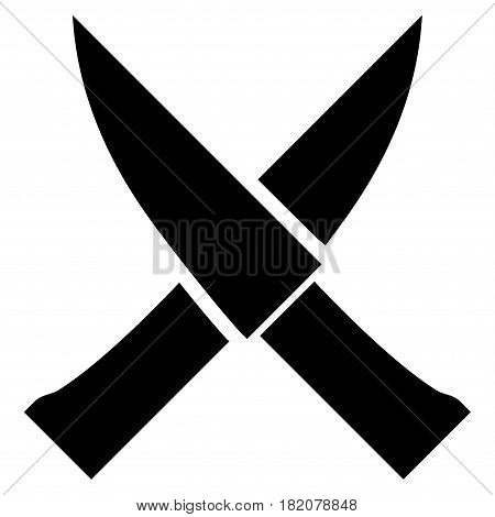 Crossing Knives vector icon. a flat isolated illustration on a white background.