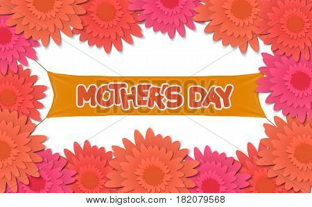 Mother day, holiday background. can be use for sale advertisement, backdrop. vector template
