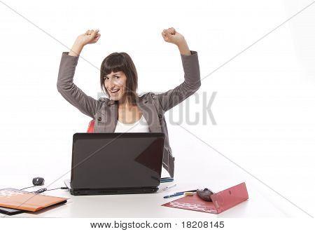 Businesswoman Winning