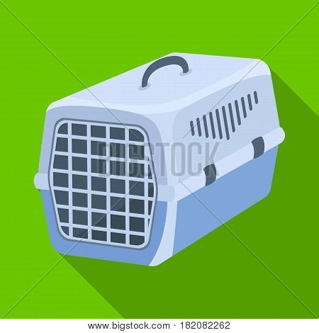 Container for animals.Pet shop single icon in black style vector symbol stock illustration .