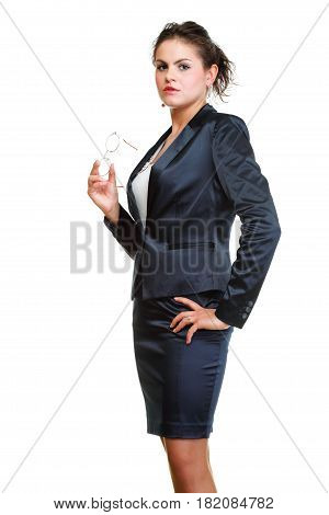 Modern Business Woman Smiling And Looking Portrait Isolated