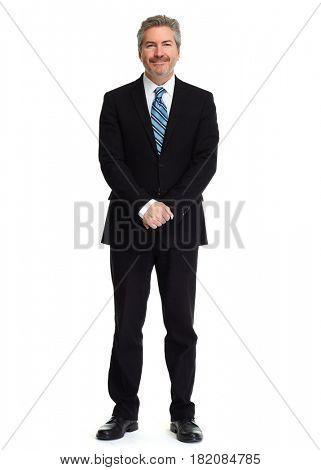 Man isolated white background