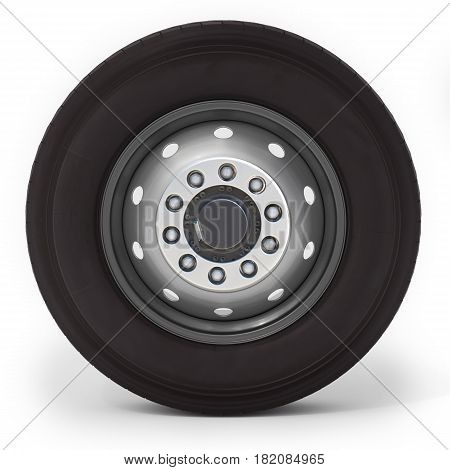 3D Truck Wheel And Tire